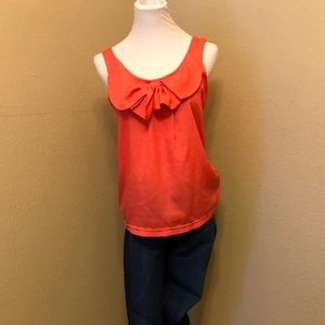 American Rag coral bow top
